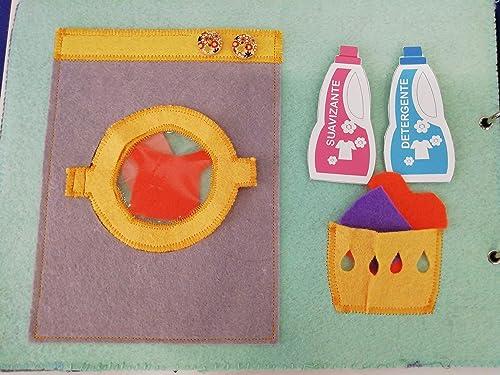 Actividad de lavar y tender para libro de actividades tipo ...