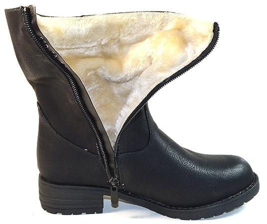 SDS - Damen Winter Stiefel 280-PA schwarz gefüttert Warmfutter  Reißverschluss (37)  Amazon.de  Schuhe   Handtaschen 0d49c32198