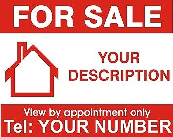 Amazon.com: Propiedad casa para la venta cartel ...