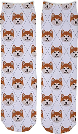 Bichon Frise Dog Paws Pattern Men-Women Adult Ankle Socks Crazy Novelty Socks