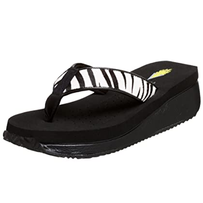 7ad3f905bf2809 Volatile Women s Corkee Animal Wedge Sandal