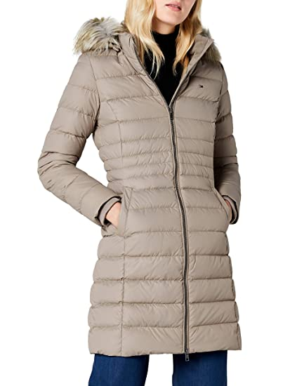 8fd8075f Tommy Jeans Women's Essential Down Hooded Coat: Amazon.co.uk: Clothing