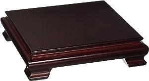 Oriental Furniture Rosewood Vase Stand - (Size 5.5 in. Base Diameter)
