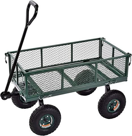 Metal Capacity 1000 lbs Green Sandusky Lee Heavy Duty Flat Nursery Cart