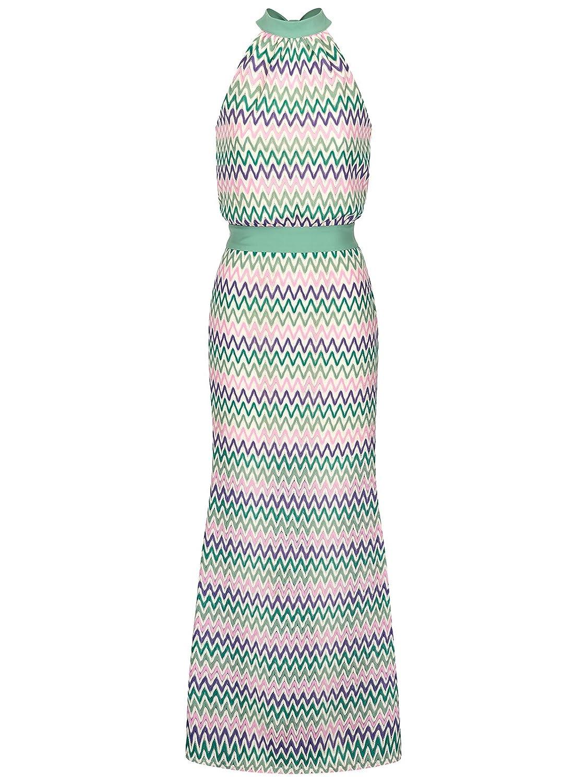 FOURFLAVOR Maxikleid Moana Rückenausschnitt Maxi ärmellos Feierliche Anlässe Tailliert 100% Polyester