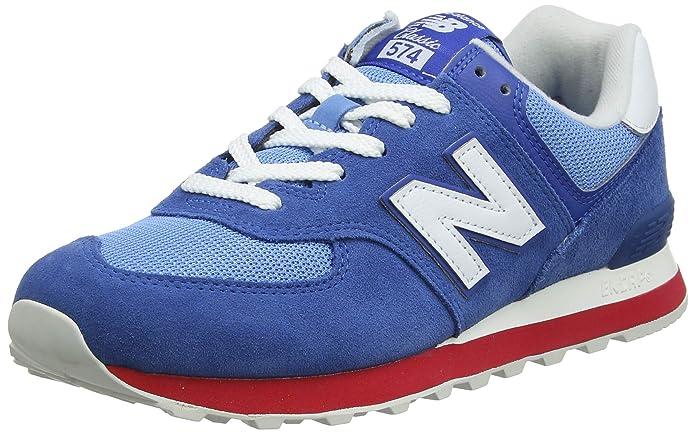 New Balance Ml574 D Sneakers Herren Blau/Rot/Weiß