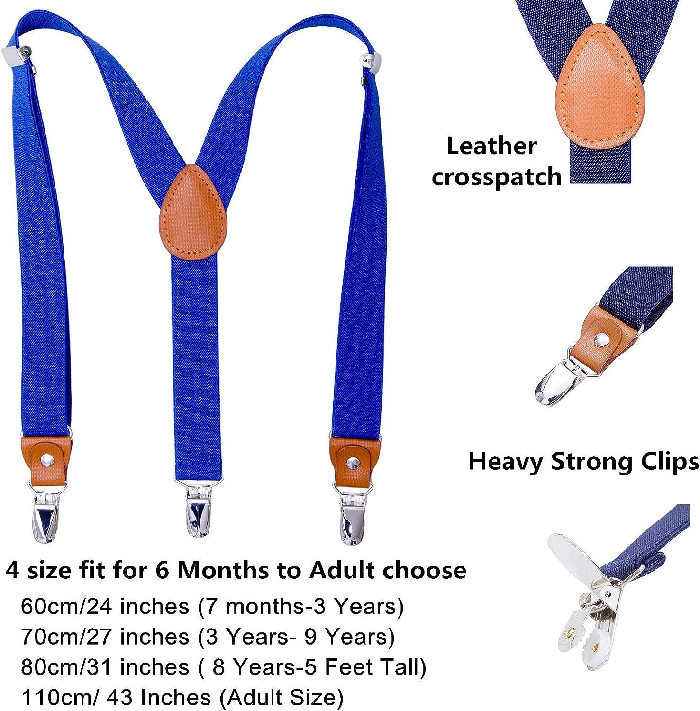 4 Sizes Sturdy Metal Clips Elastic Adjustable Suspender AWAYTR Kids Boys Adults Suspenders