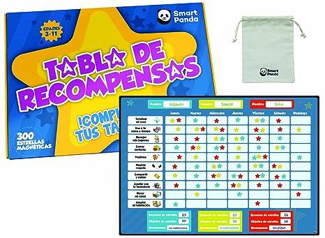 Tabla de Recompensas para Niños - Pizarra Magnética de Estrellas Inspira el Buen Comportamiento - para Pared o Frigorífico. Incluye 20 Tareas ...