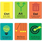 Tinywalk Quotes Magnet for Office Set of 6 (1.5x2)