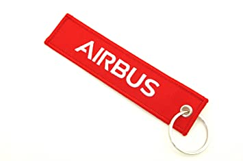 REMOVE BEFORE FLIGHT ® Llavero en rojo | Airbus Edition