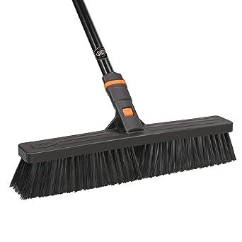 SWOPT 18 in Premium Smooth Surface Push Broom Head Quick Connect Soft Bristle