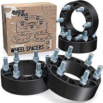 4Pcs 6x5.5 to 6x5.5 Black  Wheel Spacers Thread M14x1.5 For GMC Sierra 1500