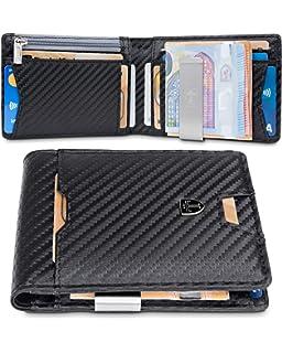 1c096f1af9 TRAVANDO Portafoglio uomo piccolo sottile con Clip per Contanti AMSTERDAM Protezione  RFID Porta carte di credito