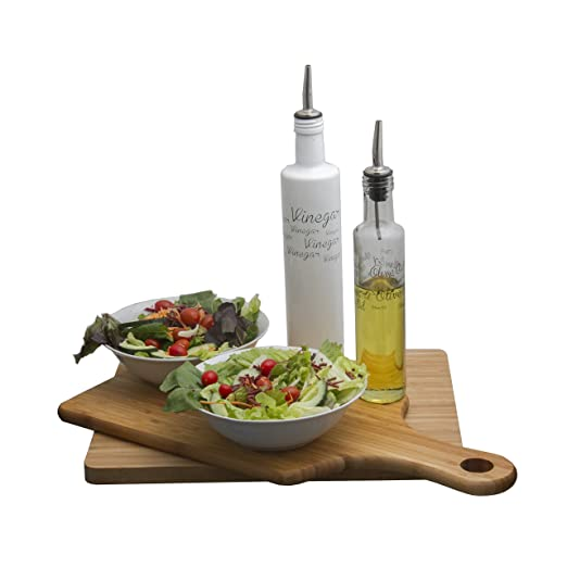 Amazon.com: Consol Decorated Oil and Vinegar Bottle Set - Olive Oil Dispenser with Removable Cork – Stainless Steel Spouts For Easy Pouring - Premium Glass ...