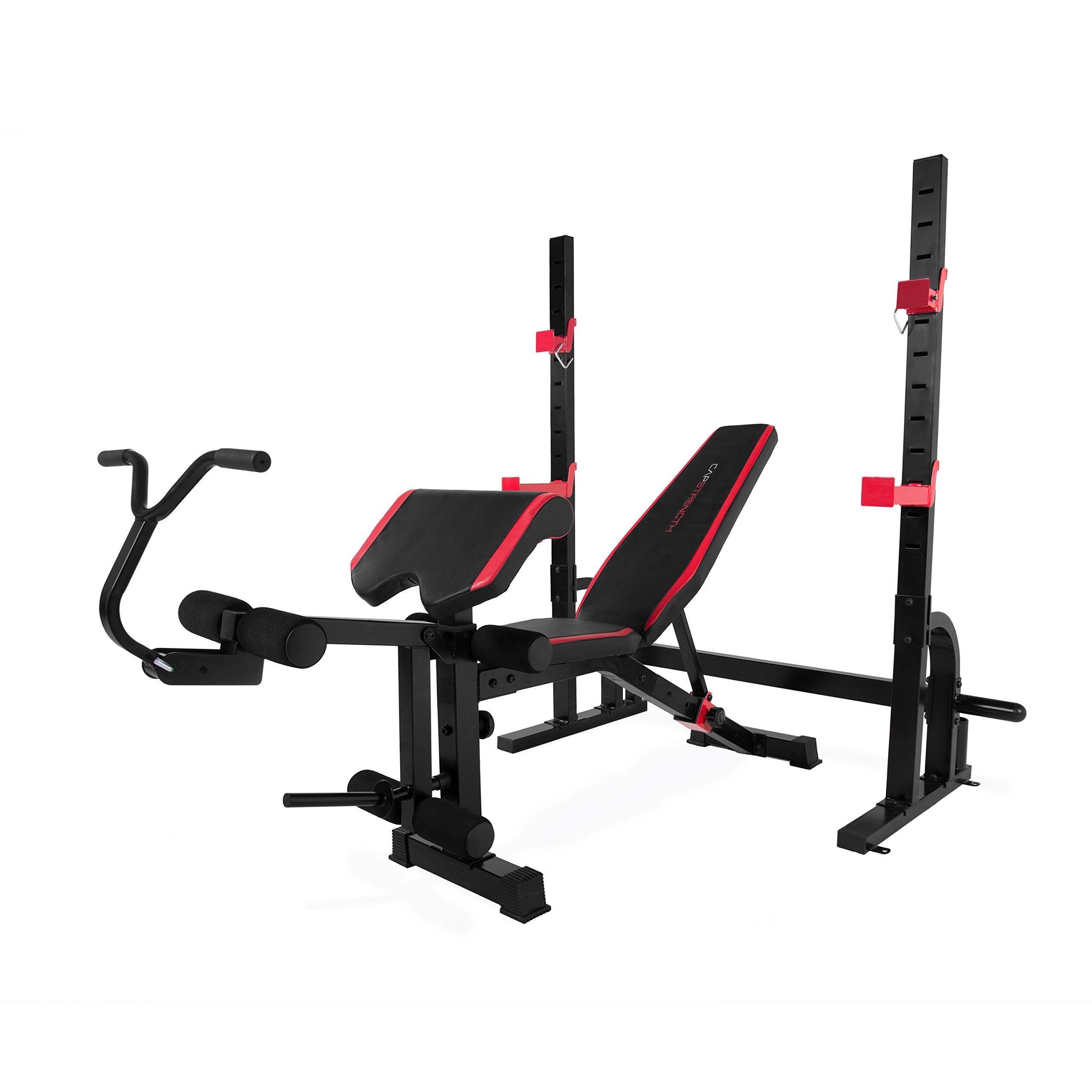 CAP Strength Olympic Bench with Preacher Pad & Leg Developer by CAP Barbell
