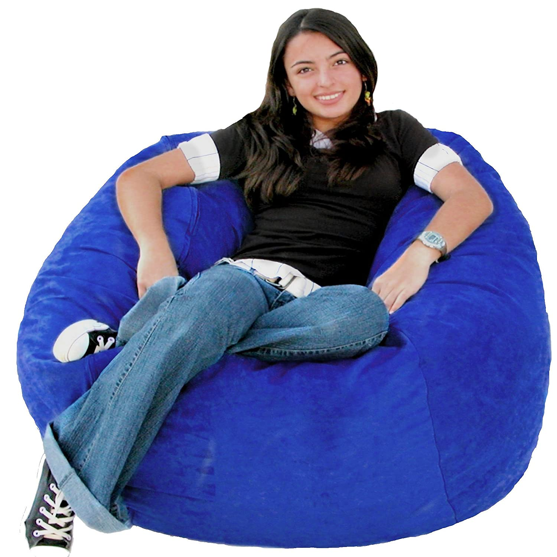 Amazon Cozy Sack 3 Feet Bean Bag Chair Medium Royal