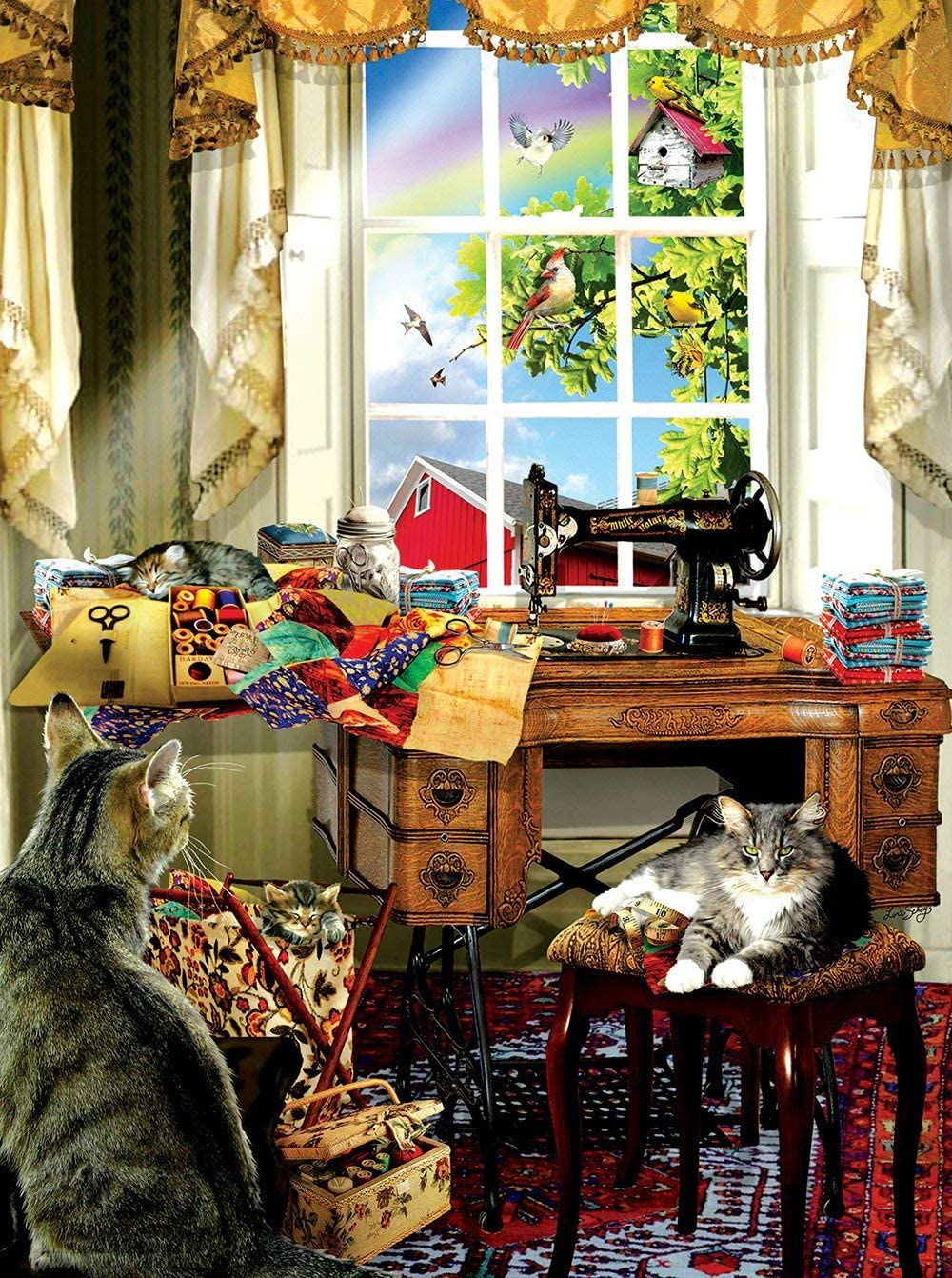 The Sewing Room 1000 Pc Jigsaw Puzzle by SunsOut