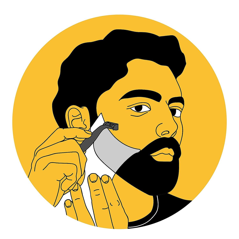 Cut Buddy - Plantilla/molde con múltiples curvas para recortar o afeitar barbas, patillas y bigote: Amazon.es: Belleza