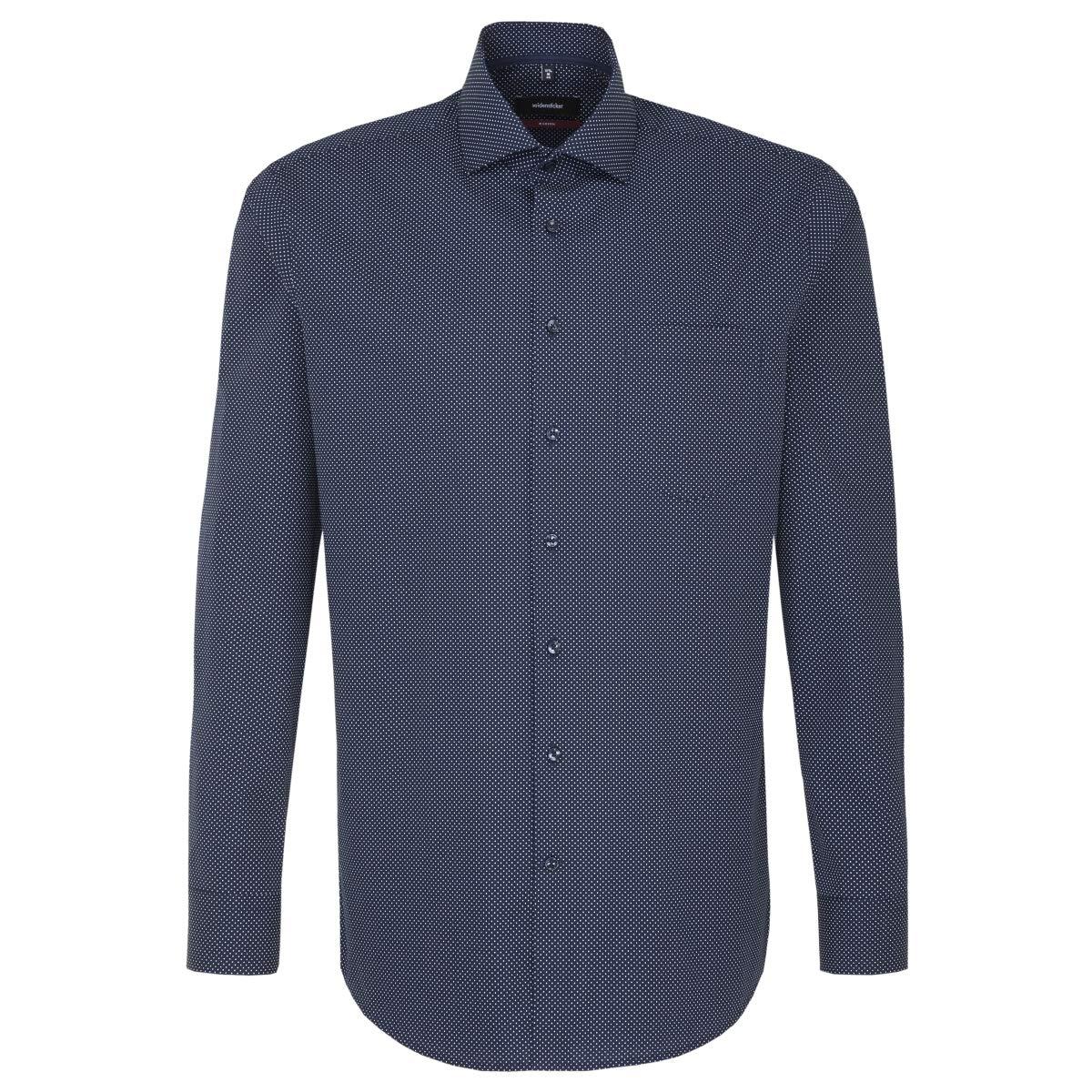 TALLA 48 (Talla del fabricante: 46). Seidensticker Modern Langarm Mit Kent Kragen Soft Gepunktet, Camisa para Hombre