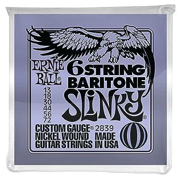 Ernie Ball Slinky 6-cuerdas con bola pequeña 29 escala 5/8 cuerdas de guitarra barítono - 13-72 Gauge: Amazon.es: Instrumentos musicales
