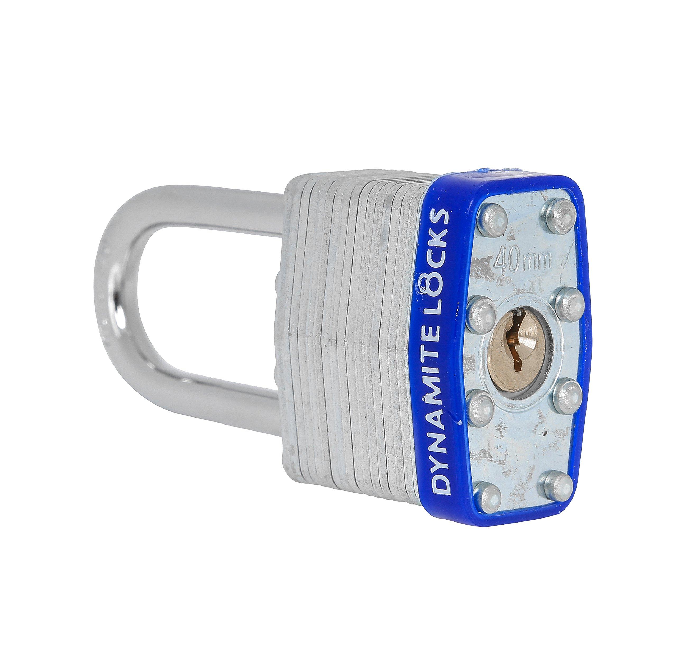 72 PC padlocks keyed alike 72-pack LAMINATED PADLOCK 40MM KEY ALIKE SHORT SHACKLE COMMERCIAL GRADE SECURITY PAD LOCKS PADLOCK KEYED THE SAME A LIKE by Dynamite Locks (Image #6)