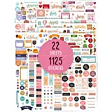 Aesthetic Monthly Planner Stickers - 1100+ Beautiful Design Accessories Enhance and Simplify Your Planner, Journal and Calend