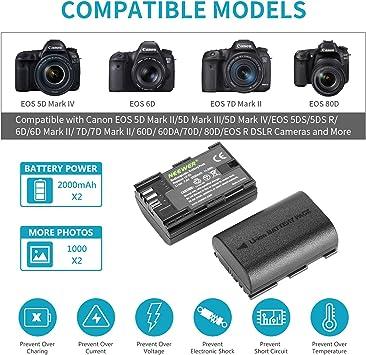 Neewer Lp E6 Lp E6n Akkuladegerät Set Kompatibel Mit Amazon De Kamera