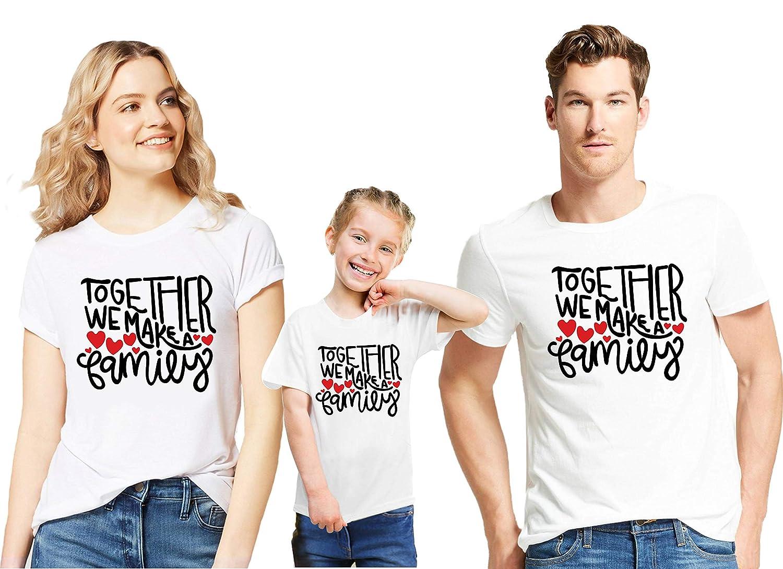 US Stock Family Matching Tops Women Men Kids T-shirt Blouse Parent-child Clothes
