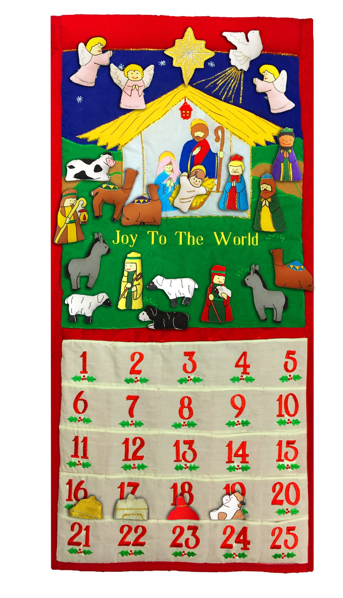 Pockets Of Learning Joy To The World Traditional Advent Calendar By