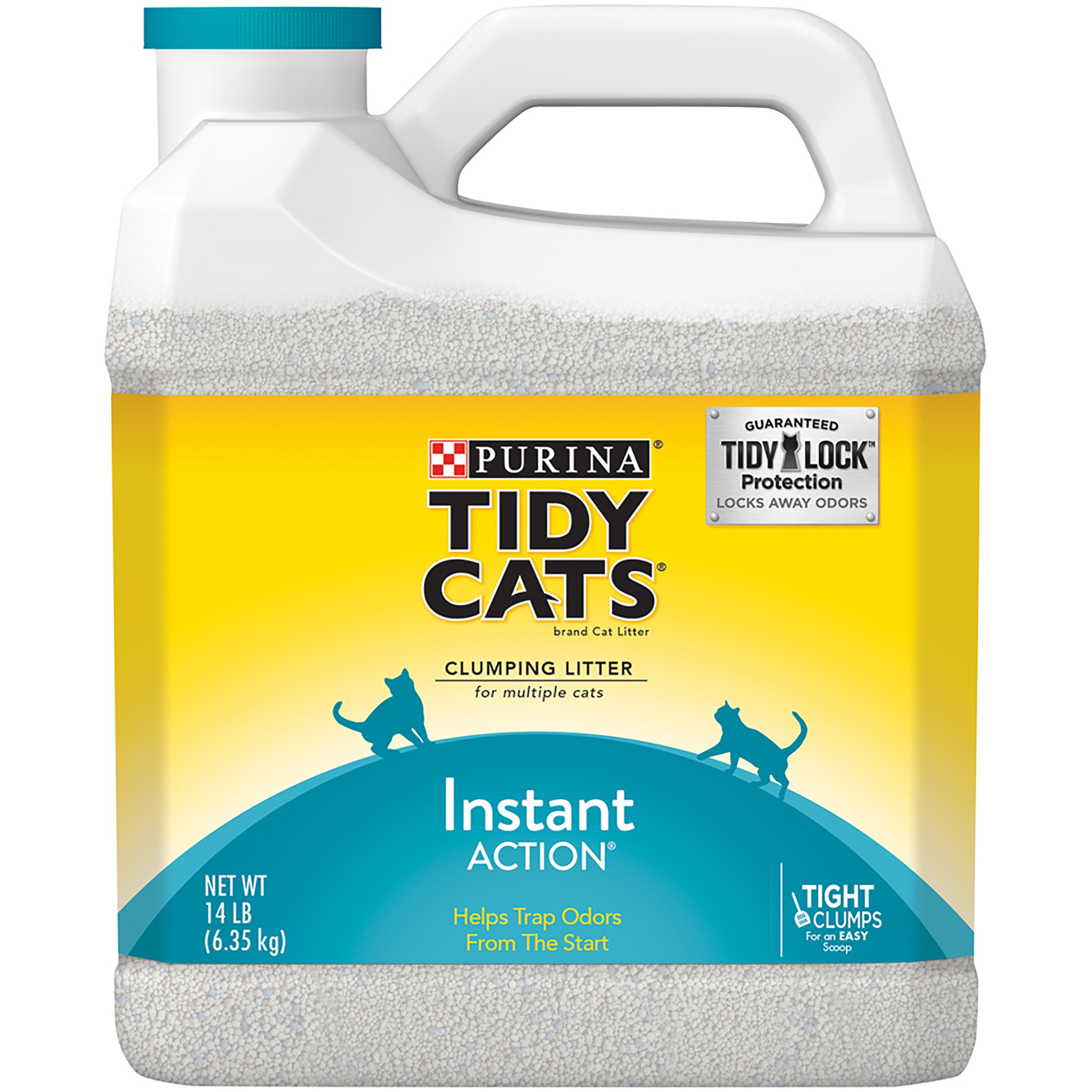 Purina Tidy Cats Instant Action Clumping Cat Litter for Multiple Cats 14 lb. ...