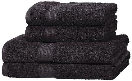 Amazonbasics set di 2 asciugamani da bagno e 2 asciugamani per le