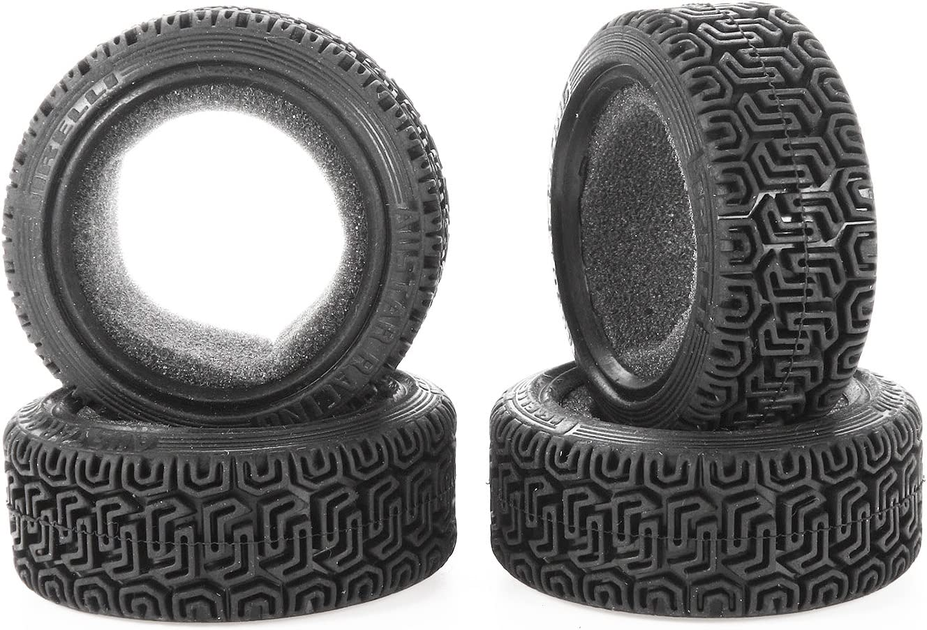 REhobby 4pcs 1//10 RC On Road Rally Wheels Tires 12mm Hex Drive Hub with Foam Inserts for 1:10 Traxxas TRX4 Touring Car Black