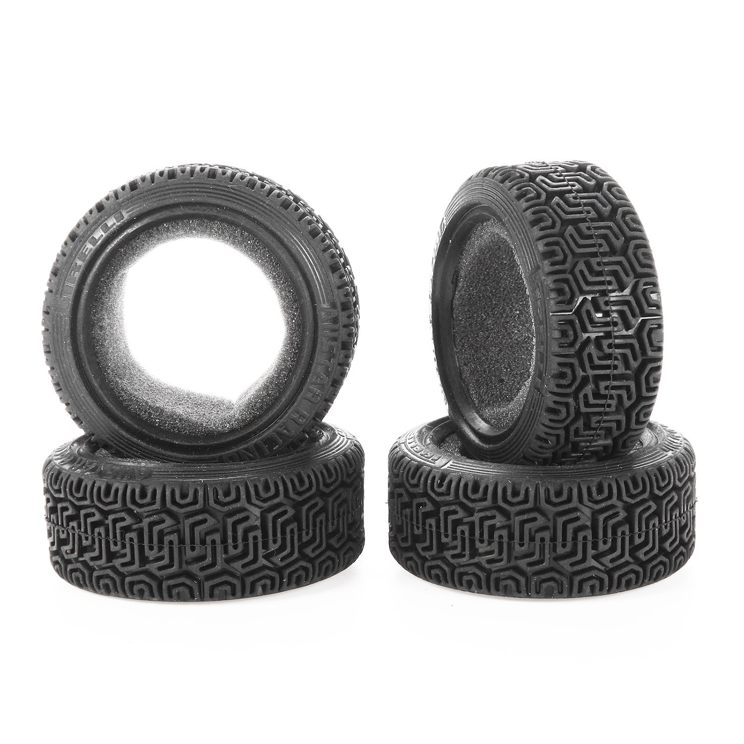 LAFEINA 1//10 RC Car Racing Flat Run Sponge Insert Rubber Tyres 68mm Tires for 1:10 RC On Road Car Traxxas Tamiya HSP HPI Kyosho RC Rally Car 4PCS