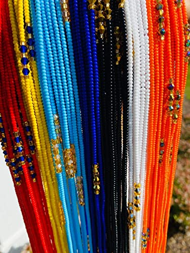 Weight Tracker Body Jewelry Waist Trainer Waist Beads for Weight Loss Tie On Waist Chain Red Beads African Waist Beads Color: JEF\u00c9