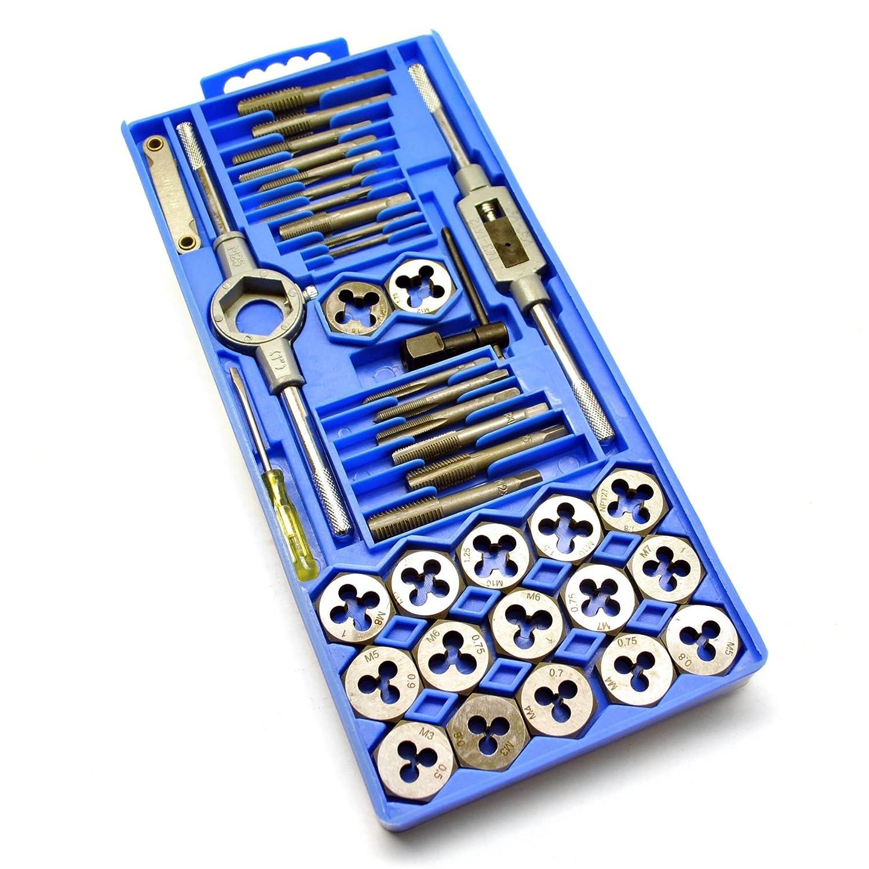 Métriques Jeu de tarauds et filières 40pc Set M3 à M12 Fiche de réparation de filetage TE435 AB Tools