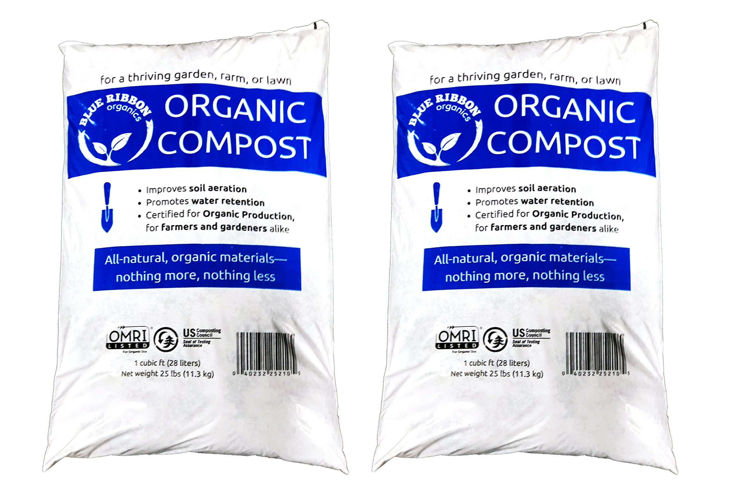 Blue Ribbon Organics OMRI Certified Organic Compost (2) by Blue Ribbon Organics