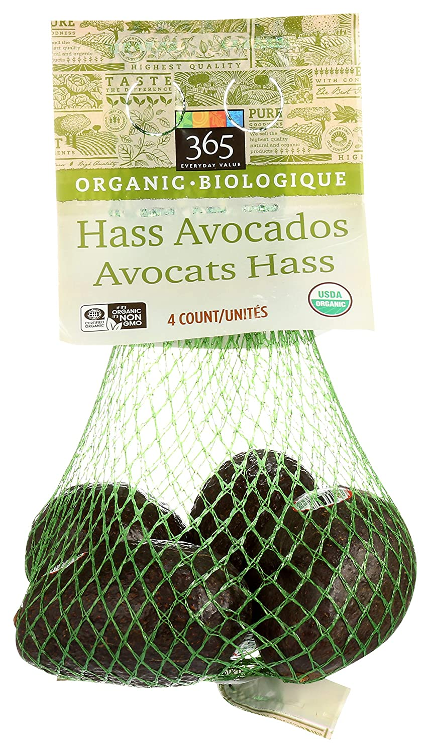 365 by Whole Foods Market, Organic Hass Avocados, 4 Count