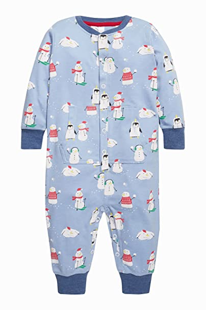eea89c938 next Niños Infantes Pijama Mono Pelele Estampado Muñeco De Nieve Marga (9  Meses-8