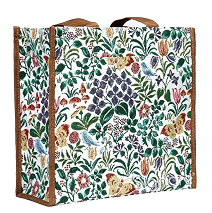 620d5a141380 Signare Tapestry Women Shopping Shoulder Tote Bag Charles Voysey Spring  Flower (SHOP-SPFL)