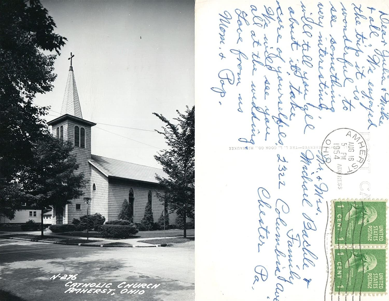 Amazon com : AMHERST OH CATHOLIC CHURCH 1954 REAL PHOTO
