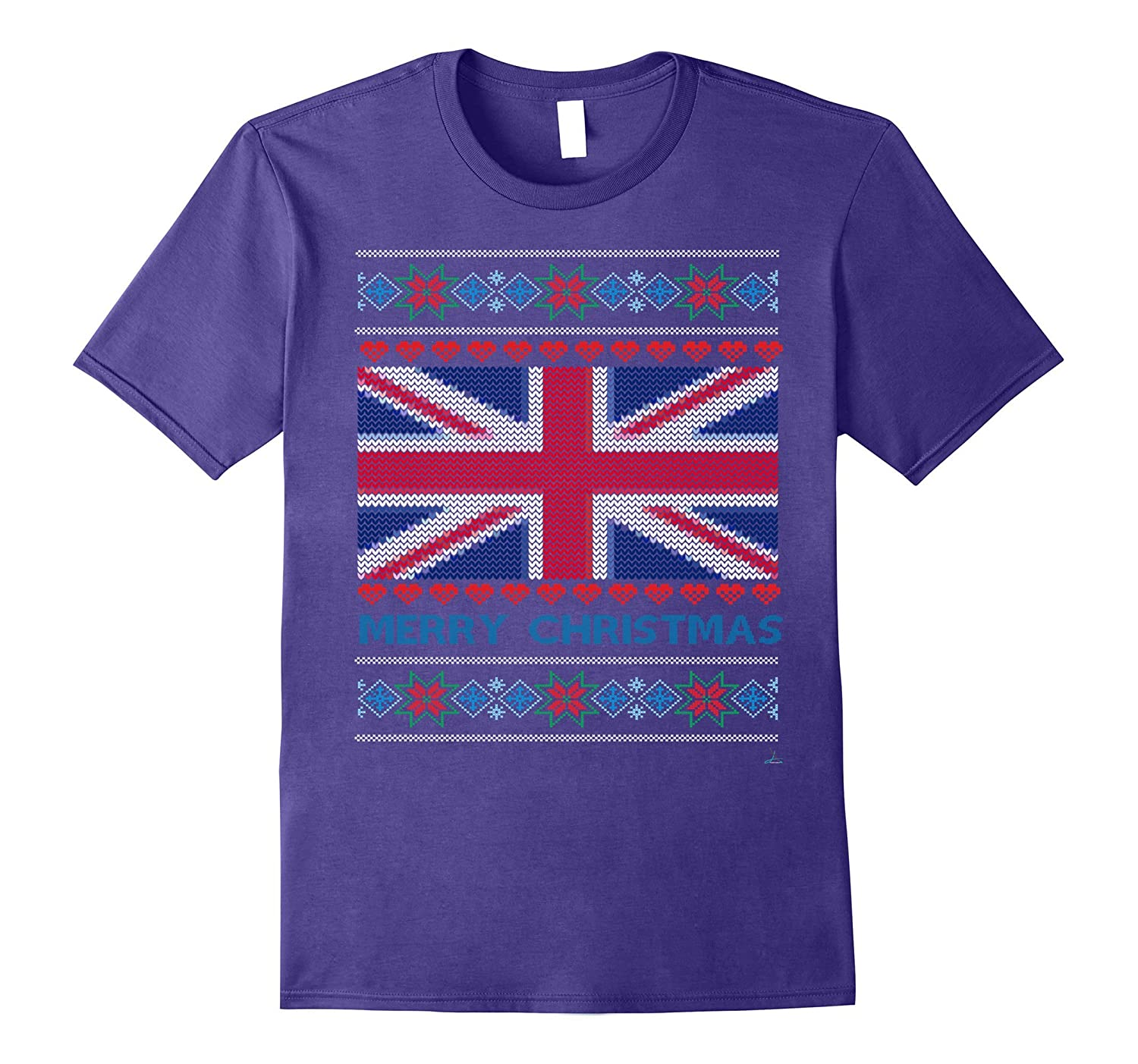 Ugly Sweater Union Jack Flag UK England Christmas Sweater