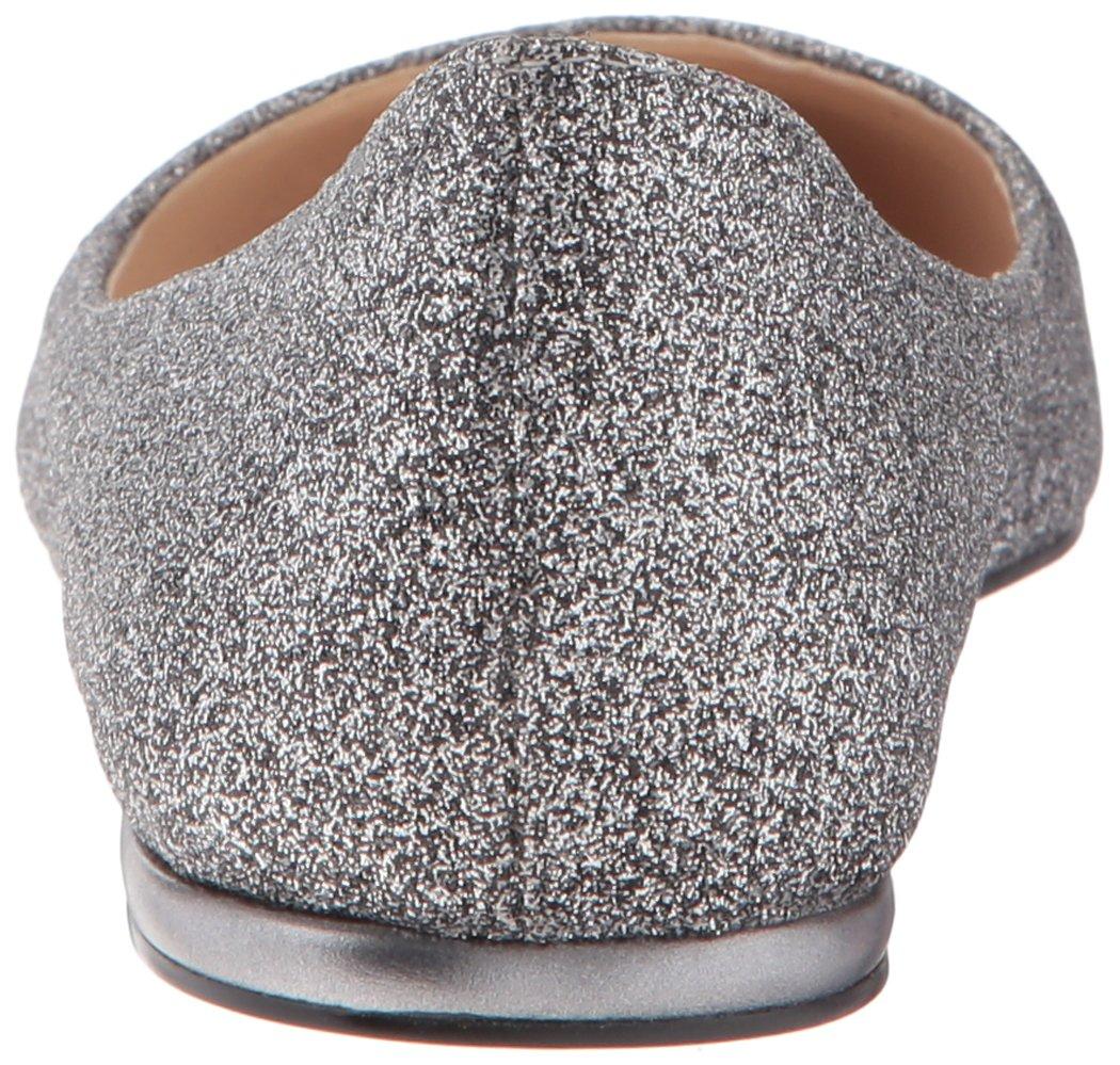 Nine West Women's Speakup Metallic Pointed Toe Flat B01MAVRJAB 6 B(M) US|Pewter