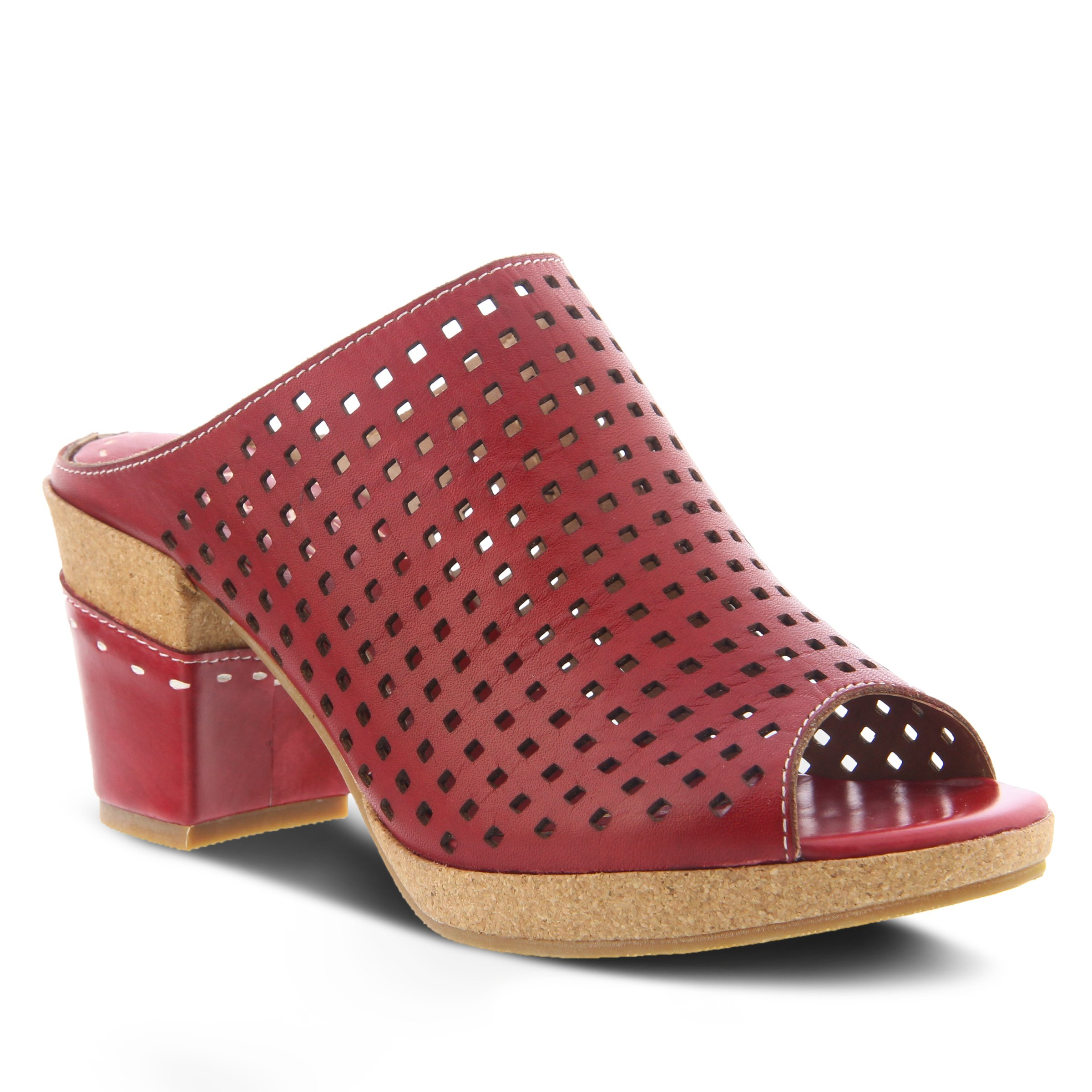 L'Artiste by Spring Step Women's Style Patience Red EURO Size 35 Leather Sandal