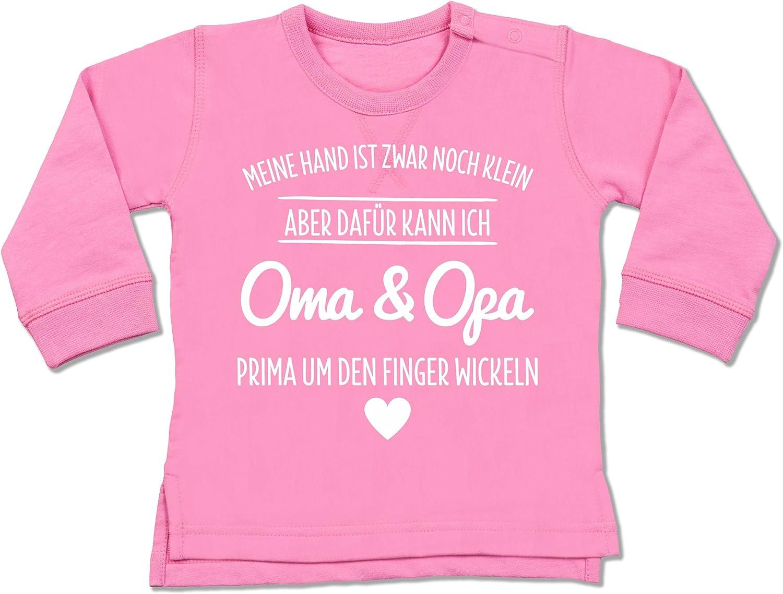 Baby Pullover Oma und Opa um den Finger Wickeln Shirtracer Spr/üche Baby