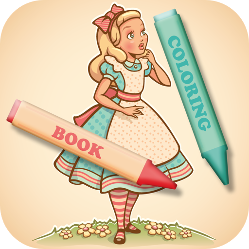 Coloring Book: Alice in Wonderland