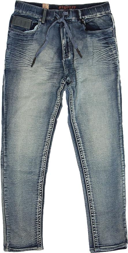 TheMogan Mens Vintage Washed Denim Dropstrick Drop Crotch Paint Splatter Jeans