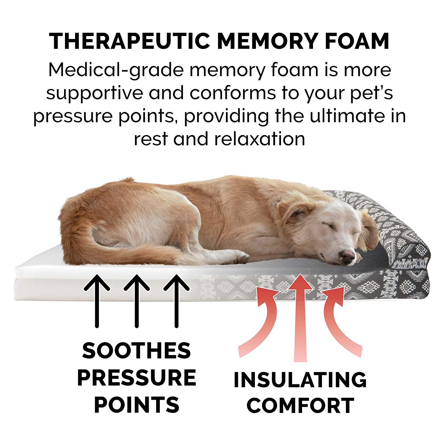 Available in Multiple Colors /& Styles Orthopedic Sofa-Style Traditional Living Room Couch Pet Bed w// Removable Cover for Dogs /& Cats Furhaven Pet Dog Bed