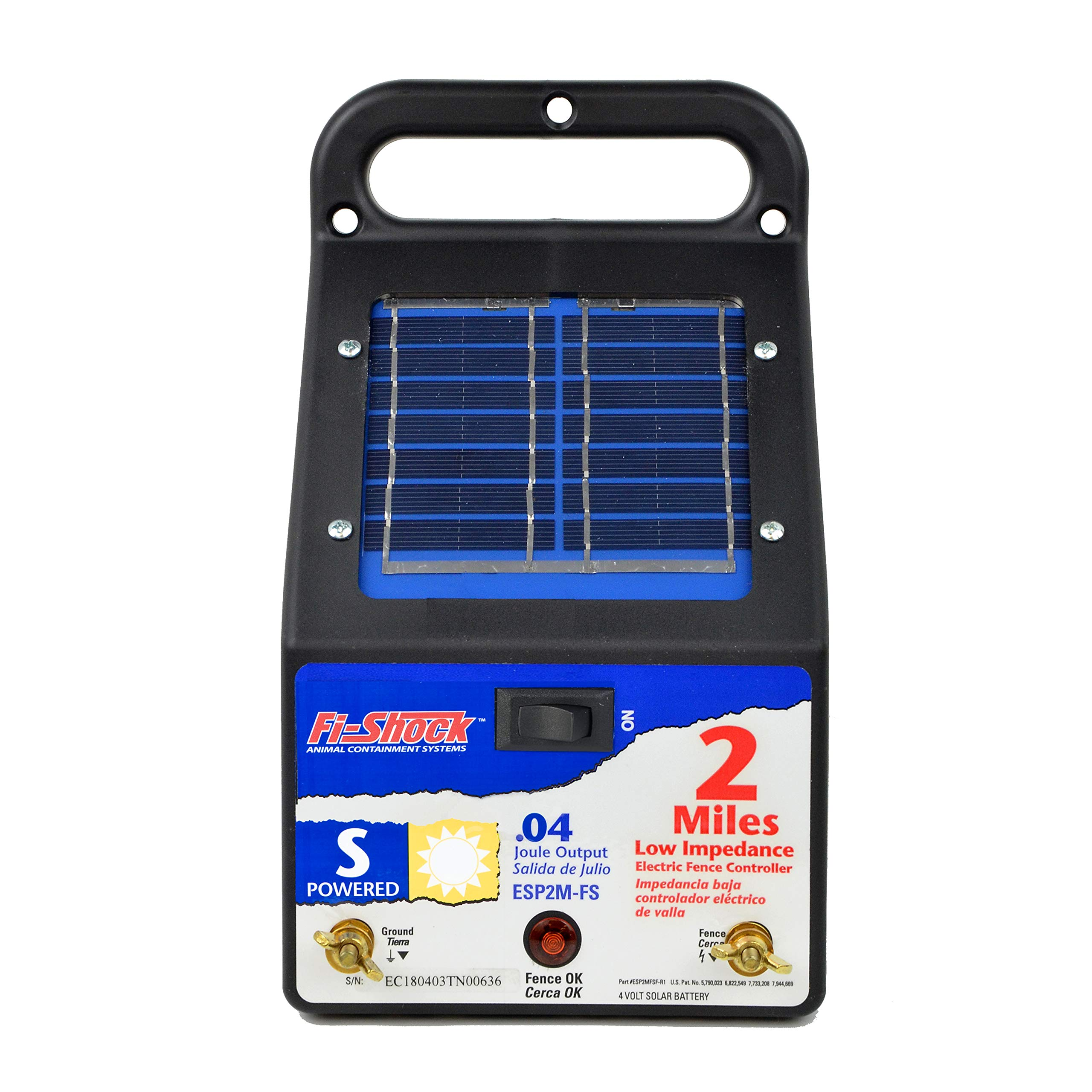 Fi-Shock ESP2M-FS 2-Mile Solar-Powered Electric Fence Charger by Fi-Shock