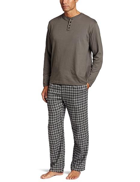 2179db58d71 Joseph Abboud Men's Henley top with Flannel Pant