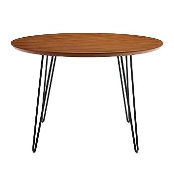 46u0026quot; Round Hairpin Leg Dining Table   Walnut